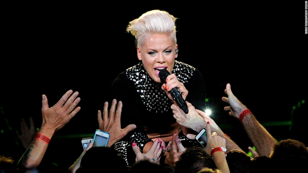 "It's<strong> Pink.</strong> Contrary to some reports, she did not take her stage name from her hair color at the time. <a href=""http://www.faze.ca/issue08/pink_interview.html"" target=""_blank"">She told Faze magazine</a> that as a child she would blush a rosy pink when embarrassed and the nickname stuck."
