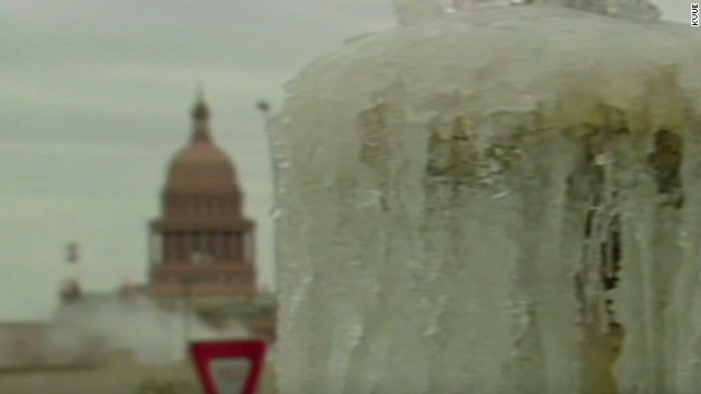 Rare winter weather hits parts of Texas