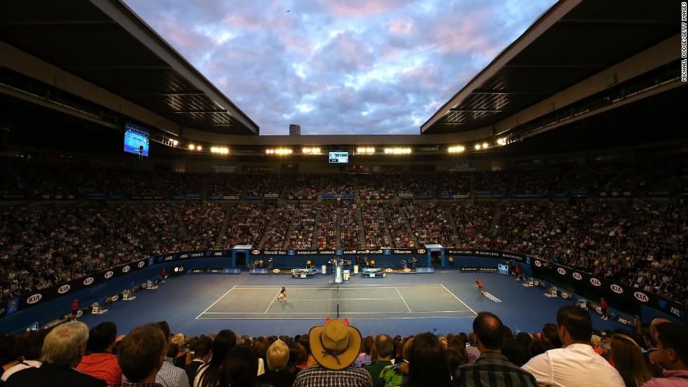 The hotly-anticipated match was played out in front of a jam-packed Rod Laver Arena.