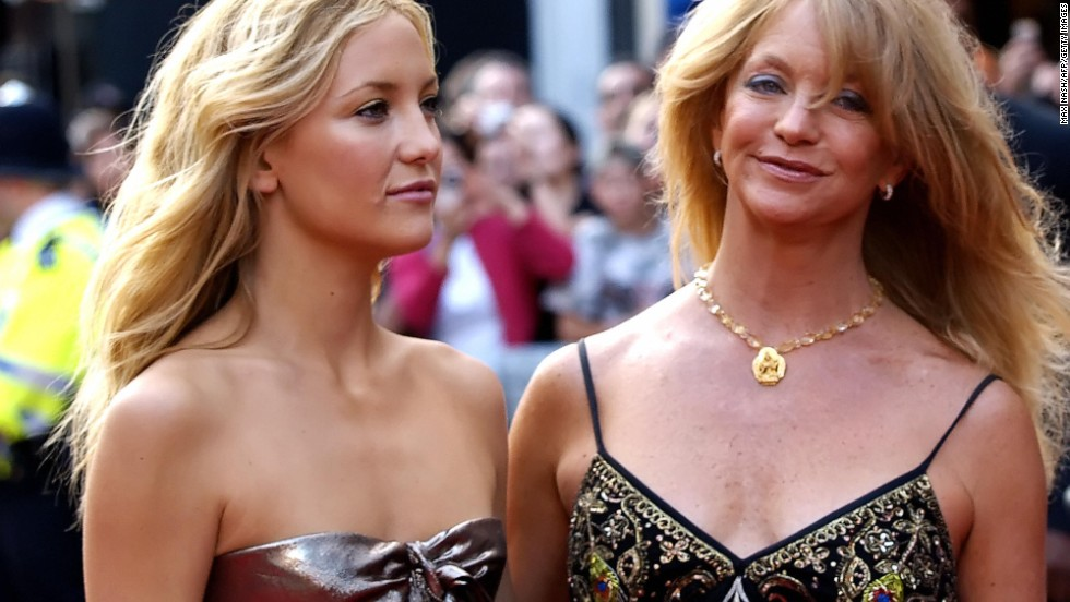 "Goldie Hawn with her daughter, actress Kate Hudson, arrive at the London Premiere of ""Skeleton Key"" in July 2005."