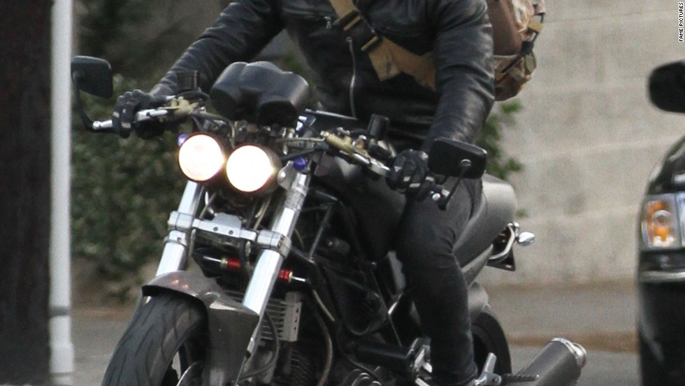 Justin Theroux takes a ride on January 23.