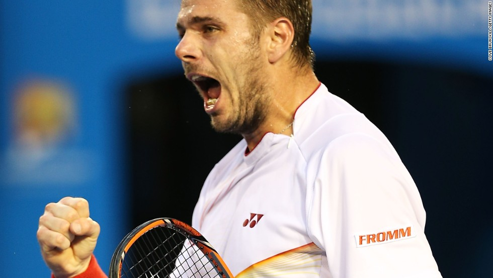 Soon Wawrinka was edging ahead, breaking Nadal's serve in the fourth game.