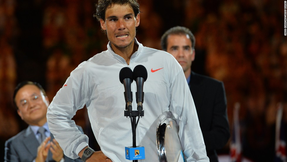 """Bad luck was against me but you really deserved it so congratulations,"" Nadal, wiping away tears, told the crowd post match. ""Sorry to finish this way. I tried very, very hard."""