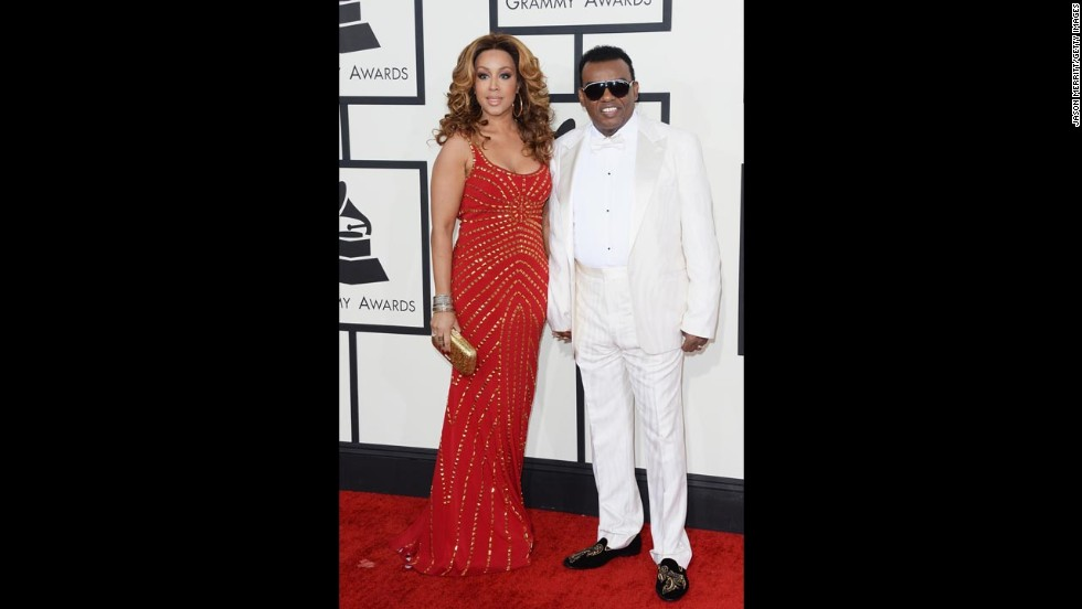 "Ronald Isley of the Isley Brothers was the very definition of ""so fresh, so clean"" as he walked the red carpet with Kandy Johnson Isley."