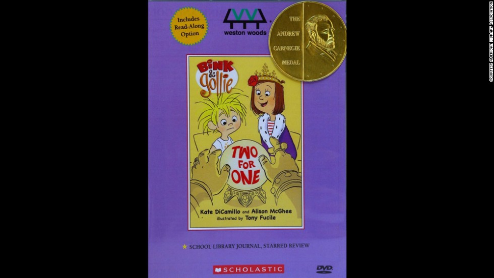 "Paul R. Gagne and Melissa Reilly Ellard, producers of ""Bink & Gollie: Two for One,"" are the Carnegie Medal winners."