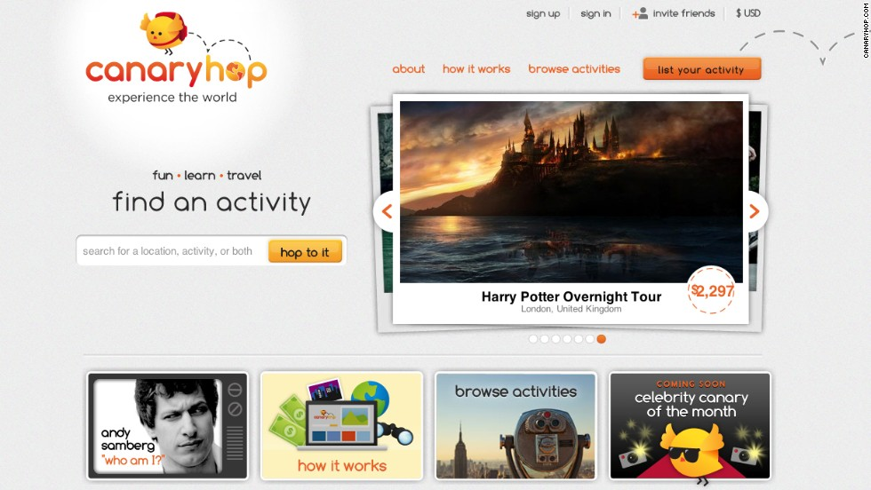 """From Harry Potter tours to sandcastle building, """"hoppers"""" choose from more than 800 activities led by locals."""