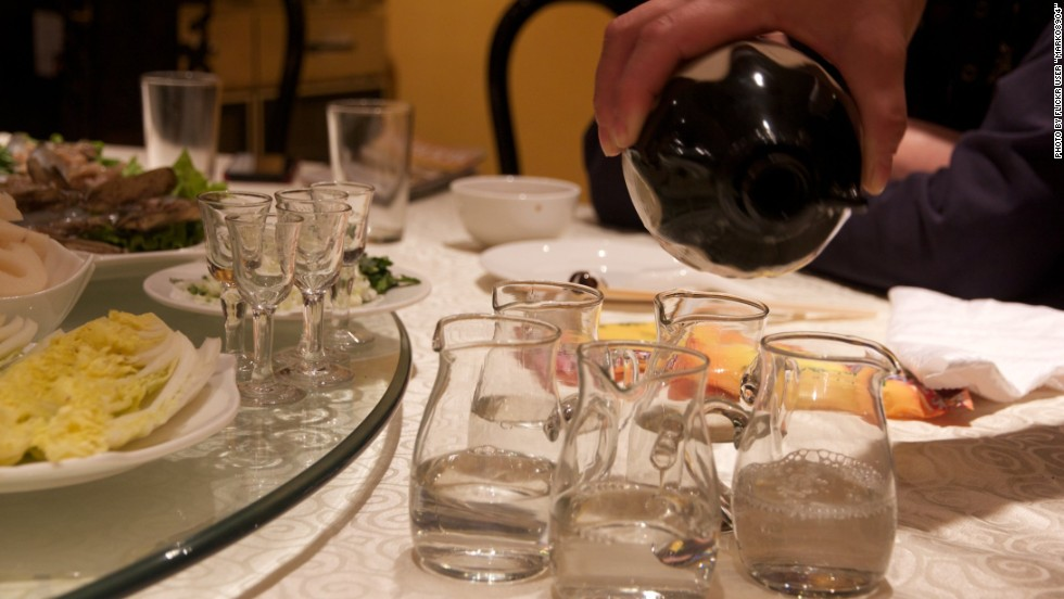 Eleven billion liters of baijiu were consumed in China in 2012. That's a third of all spirits consumed worldwide. The distilled spirit can be up to 50% alcohol by volume, making it a frequent precursor to arguments, frivolity and forgettable karaoke sessions.