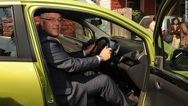 In this photograph taken on January 19, 2010, former General Motors India president and managing director Karl Slym poses during the launch of a motor car in Ahmedabad. Karl Slym, the managing director of Tata Motors, has died in Bangkok after falling from a high floor of a hotel, a company spokesperson said. He was in Bangkok to attend a meeting of the Board of Directors of Tata Motors Thailand Limited. AFP PHOTO/Sam PANTHAKYSAM PANTHAKY/AFP/Getty Images