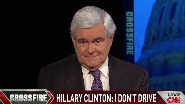 Newt on Hillary's 'I can't drive'