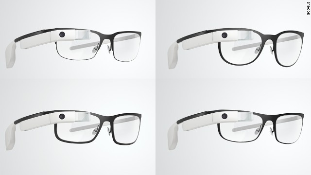 Google's four new Google Glass frame styles can hold prescription lenses.