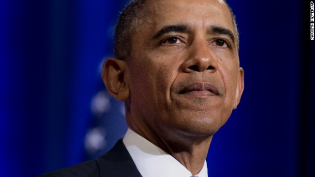 President Barack Obama pauses while talking about National Security Agency (NSA)surveillance, Friday, Jan. 17, 2014, at the Justice Department in Washington.Seeking to calm a furor over U.S. surveillance, the president called for ending the government's control of phone data from hundreds of millions of Americans and immediately ordered intelligence agencies to get a secretive court's permission before accessing the records.  (AP Photo/Carolyn Kaster)