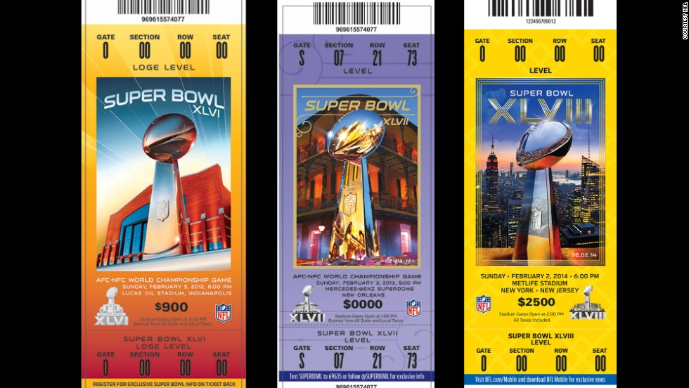 Tickets for super bowls xlvi xlvii and xlviii