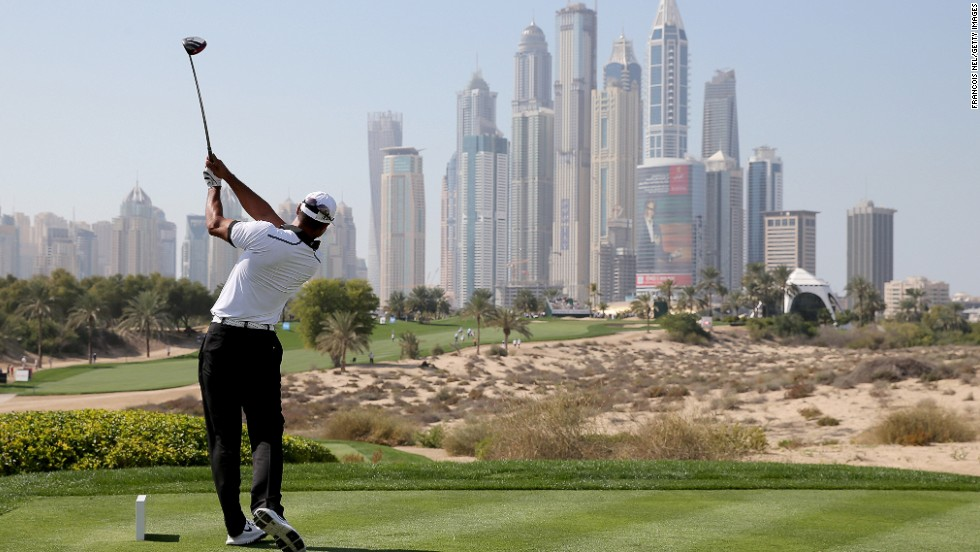 Tiger Woods tees off at the eighth as the Dubai Desert Classic celebrates its 25th year by inviting all former winners to compete in Tuesday's Champions Challenge -- a warm-up event to Thursday's main event.