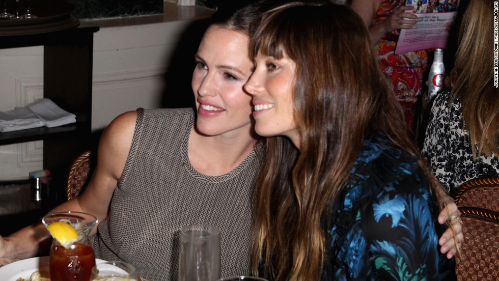 """Ever since they co-starred in the 2010 romantic comedy """"Valentine's Day,"""" Jennifer Garner, left, and Jessica Biel can't get enough of one another. """"We don't work with a lot of women on our films,"""" <a href=""""http://www.marieclaire.com/celebrity-lifestyle/celebrities/jennifer-garner-jessica-biel-interview"""" target=""""_blank"""">Biel explained of their bond</a>. """"On this film, it was great to have someone like Jessica around."""""""