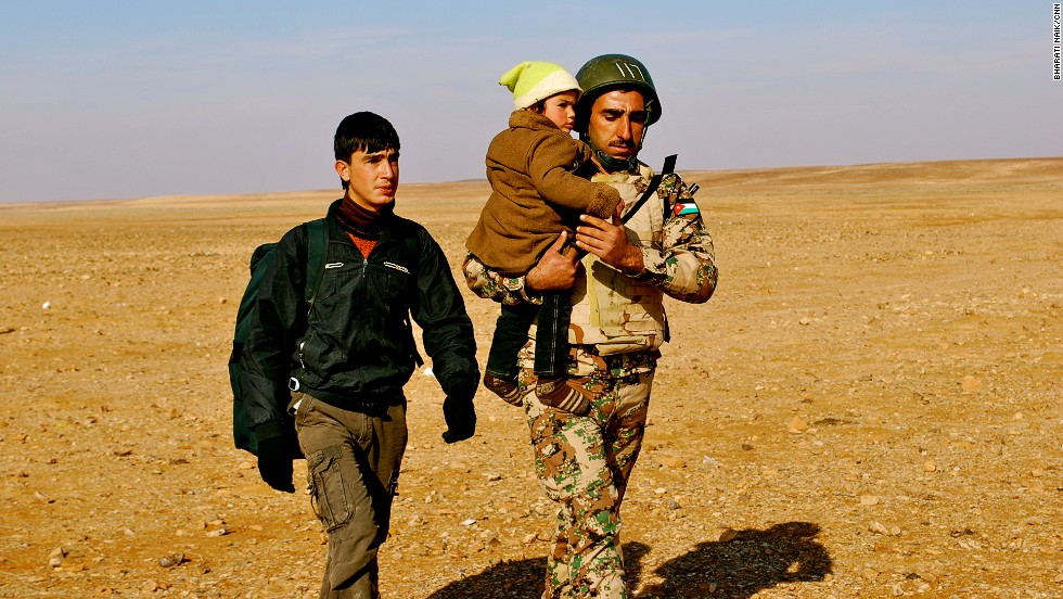 Jordan has deployed extra soldiers to their northern border to deal with the influx of Syrian refugees.