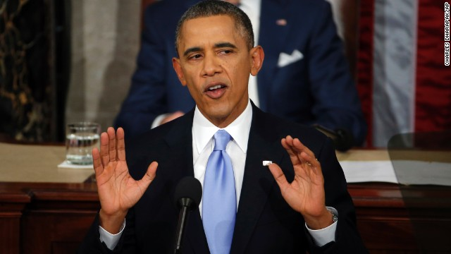 President Barack Obama gives his State of the Union address on Capitol Hill in Washington, Tuesday Jan. 28, 2014.