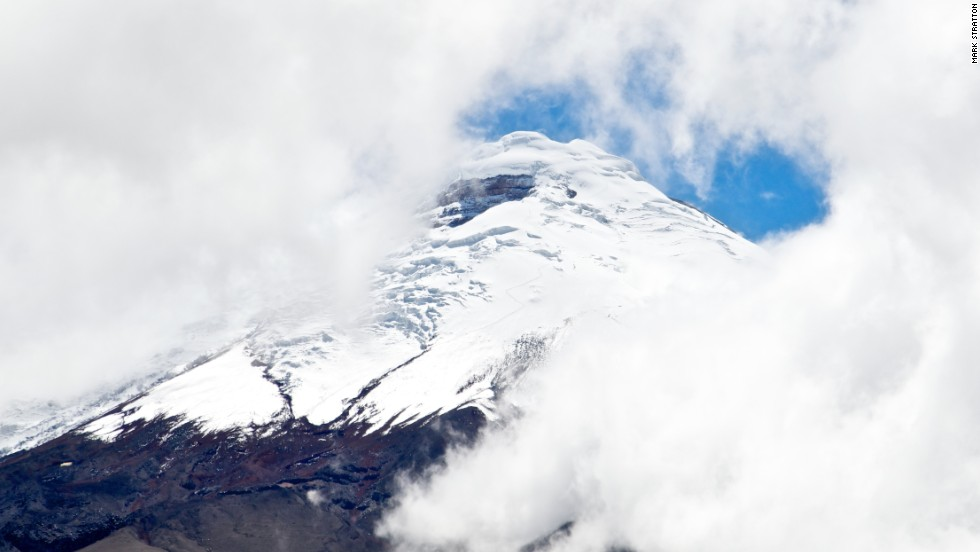 Seen from Tren Crucero, active Cotopaxi is thought to be overdue for an eruption. It's last eruption destroyed the town of Latacunga in 1904.