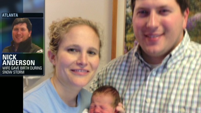 Parents describe roadside birth in snow