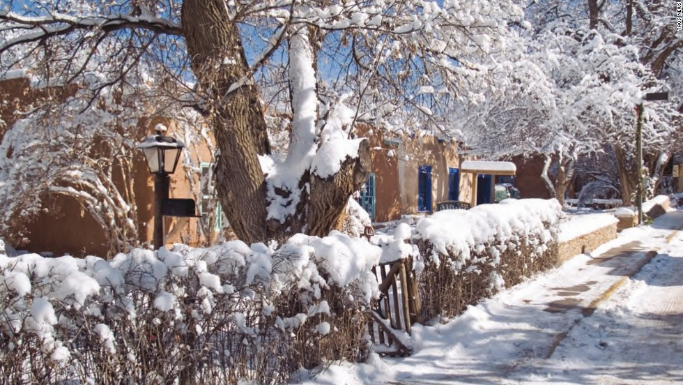 The High Road to Taos will take you past the 14th-century Nambé Pueblo,  Cordova and the snow-capped Truchas Peaks.