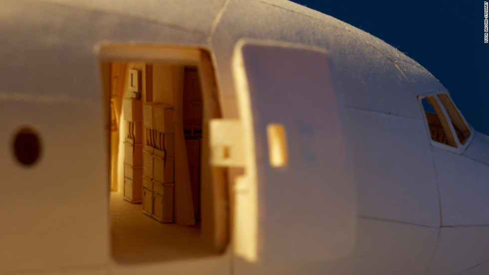 "<a href=""https://www.flickr.com/photos/lucaiaconistewart/"" target=""_blank"">Luca Iaconi-Stewart</a> has spent the past five years -- around 10,000 man hours -- making a minutely detailed, 1:60 scale replica of an Air India Boeing 777 out of manila folders."