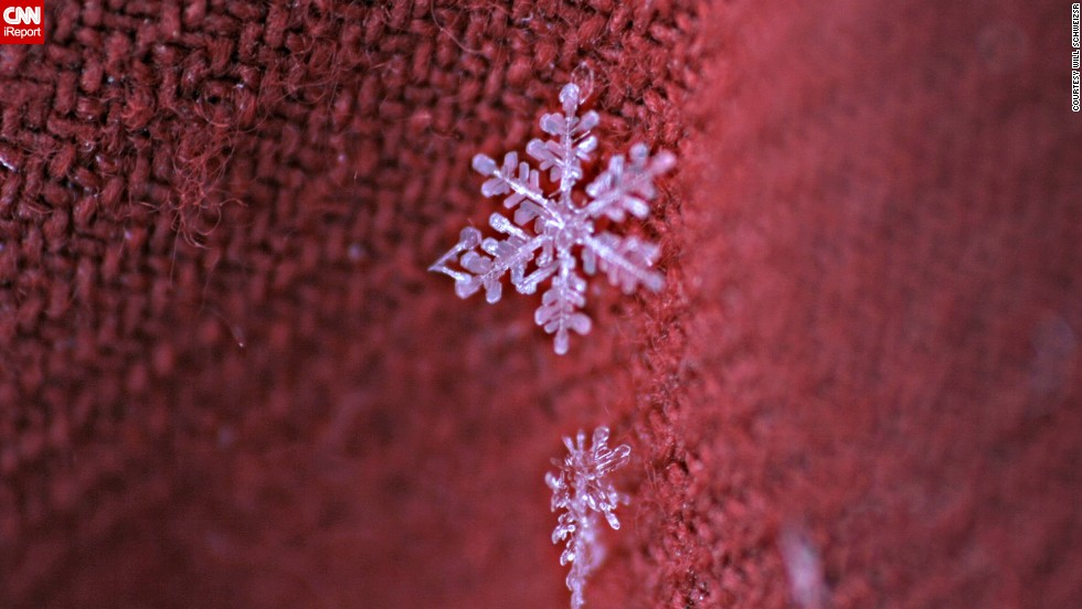 """After about 45 minutes of trying to get the perfect snowflake, I went over my pictures,"" said Schweizsr. ""Every so often I captured a great picture of a snowflake in perfect or almost perfect focus."""