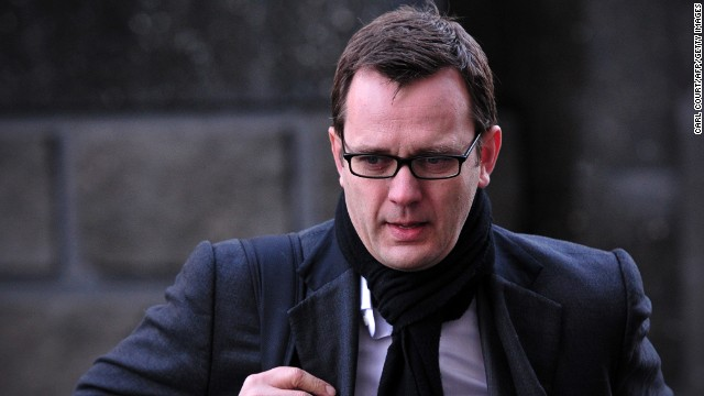 Andy Coulson arrives at the phone-hacking trial at the Old Bailey court in London on January 27, 2014.