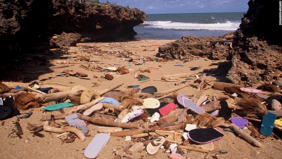 While working on a coastal conservation project in 1997, Kenyan Julie Church was horrified by the piles of flip-flops washing up onto the beaches, aware of the damage they were causing to the marine ecosystem.
