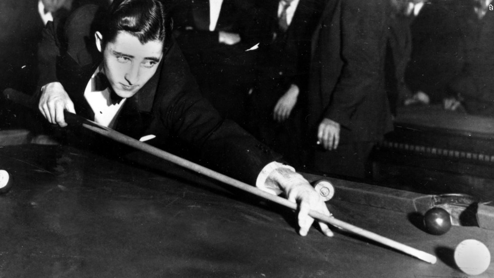 "Philadelphia's Willie Mosconi was 19 in 1933 when he played the Pocket Billiards Championship tourney in Chicago. Throughout his career, Mosconi was all business. His widow, Flora Mosconi, <a href=""http://www.nytimes.com/1993/09/18/obituaries/willie-mosconi-80-who-ruled-the-world-of-billiards-with-style.html"" target=""_blank"">told The New York Times</a>, ""Willie thought so highly of the game that he never referred to it as 'pool.' He insisted on calling it billiards."""