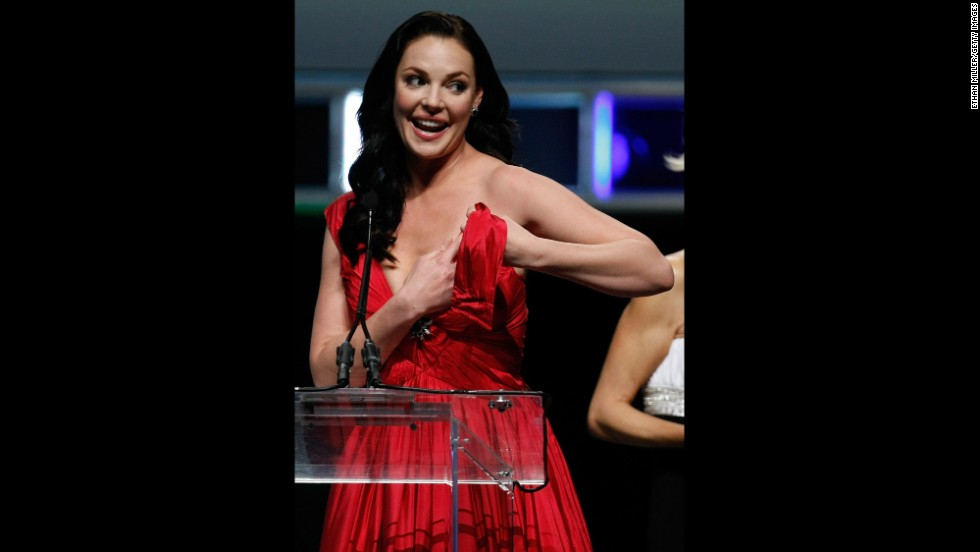 "In March of 2010, Katherine Heigl experienced a moment that most stars probably have nightmares about. As she arrived on stage to accept an award at that year's ShoWest, the strap of her dress broke and nearly left her exposed for everyone to see. ""Access Hollywood's"" Billy Bush jumped to her rescue and held her strap in place so she could finish her speech, and Heigl later thanked the TV personality ""for his 'support.' """