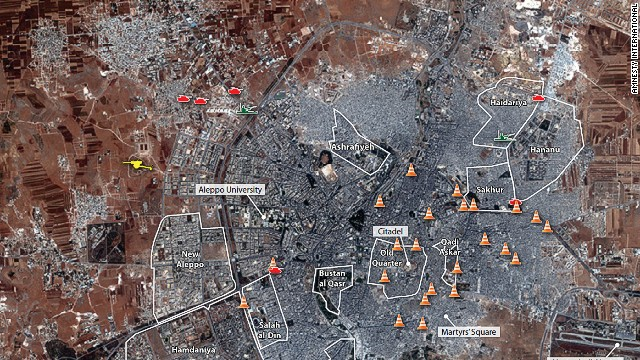 Amnesty International USA today released satellite images collected from Aleppo, Syria and the surrounding area, which show the increased use of heavy weaponry, including near residential areas, and raise urgent concerns over the impending assault on the beleaguered Syrian city.