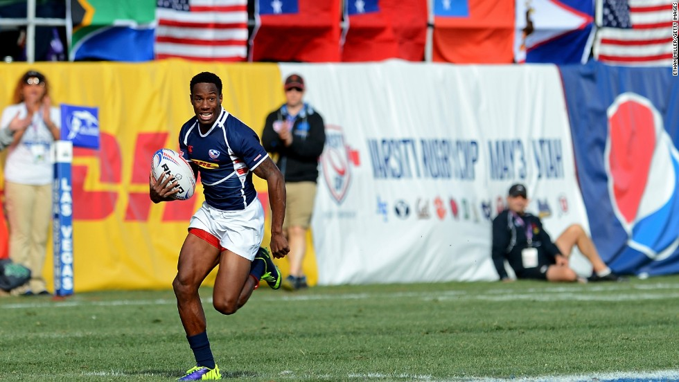 Carlin Isles was in outstanding form for the American team at January's HSBC Las Vegas Sevens and scored a superb try against Uruguay.