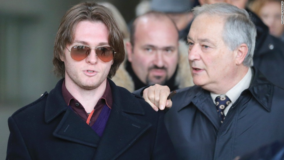 Sollecito, left, and his father, Francesco, leave after attending the final hearing before the verdict on January 30. After nearly 12 hours of deliberation, the court reinstated the guilty verdict first handed down against Knox and Sollecito in 2009.