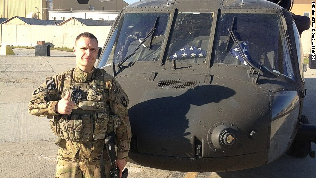 Army Chief Warrant Officer 2 Tyler Wright and his Black Hawk helicopter are part of a nine-chopper squadron set to fly over MetLife Stadium on Super Bowl Sunday.