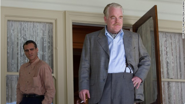 "Hoffman appears with Joaquin Phoenix in ""The Master."""