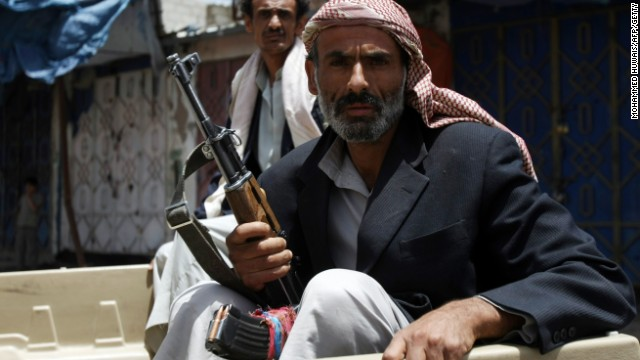 Shiite Houthi rebels have overrun a stronghold in northern Yemen controlled by members of the Sunni Hashid tribe, pictured above.