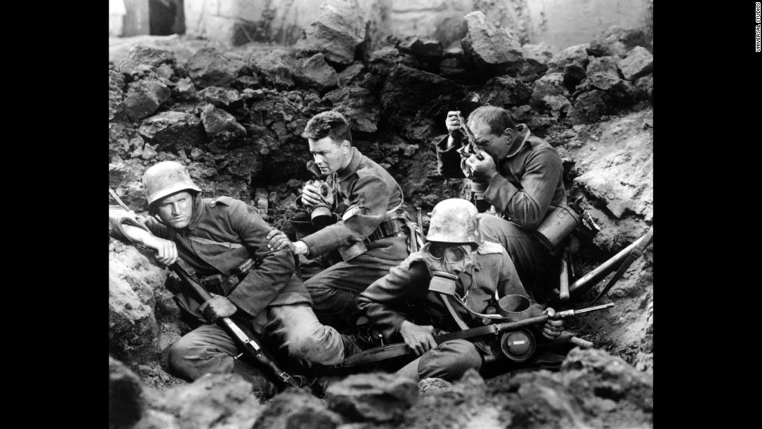 """All Quiet on the Western Front,"" best picture of 1929-30, was the film adaptation of Erich Maria Remarque's classic novel. The film stars Lewis Wolheim and Lew Ayres and was directed by Lewis Milestone."