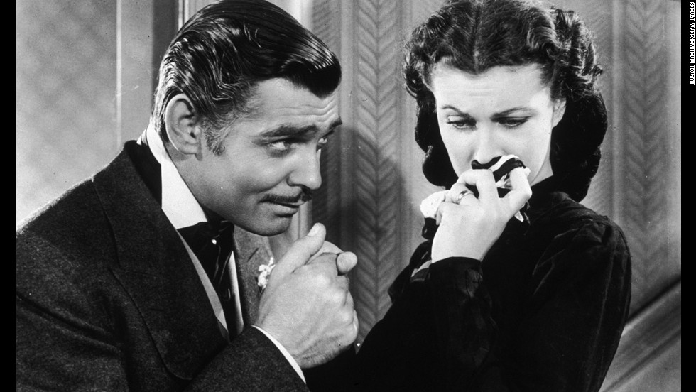 """Still considered one of the great Hollywood epics, 1939's """"Gone With the Wind"""" won 10 Oscars, including best picture and best actress for star Vivien Leigh, right. Though Clark Gable was nominated for best actor, he lost to Robert Donat (""""Goodbye, Mr. Chips"""") in one of the great Oscar upsets."""