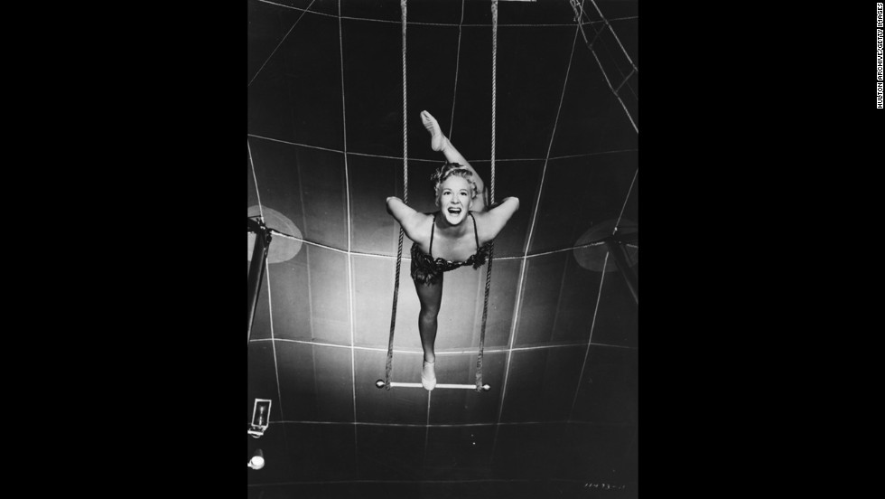 "Producer-director Cecil B. DeMille had been making epics since the silents, but none had won best picture until ""The Greatest Show on Earth,"" a 1952 circus spectacular with Betty Hutton, pictured, and Charlton Heston. Many critics and fans dismiss the movie as one of the worst best picture Oscar winners. ""Singin' in the Rain,"" considered <a href=""http://www.afi.com/100years/musicals.aspx"" target=""_blank"">Hollywood's greatest movie musical</a>, wasn't even nominated that year."