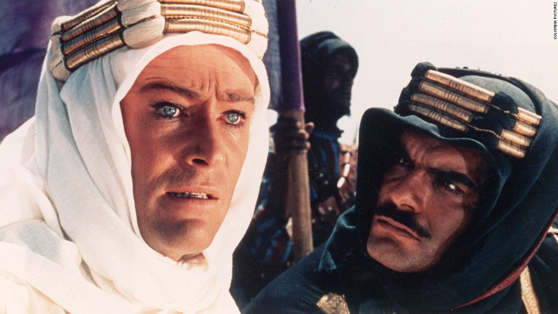 "Omar Sharif, who <a href=""http://www.cnn.com/2015/07/10/entertainment/omar-sharif-dies/index.html"">died Friday, July 10, at 83</a>, rose to international stardom with his performance opposite Peter O'Toole, left, in ""Lawrence of Arabia"" (1962). His work earned him a Golden Globe win and an Oscar nomination."