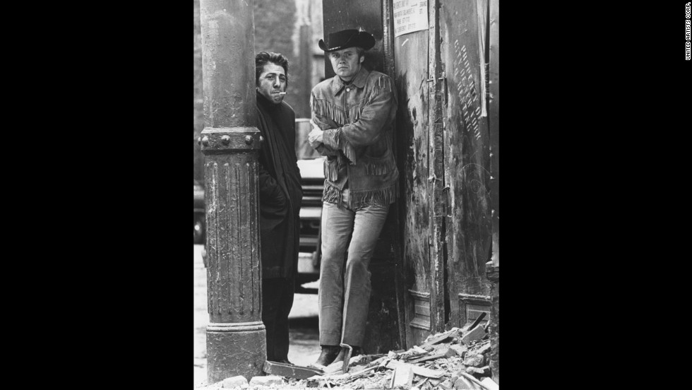 "John Schlesinger's ""Midnight Cowboy"" was the first best picture Oscar winner to be rated X, reflecting the easing of censorship in the late '60s. The movie established Jon Voight, right, as a star for his portrayal of a dumb, naive Texan who fancies himself a gigolo to rich women in New York but ends up a hustler. Fresh from ""The Graduate,"" co-star Dustin Hoffman as con man Ratso Rizzo proved he was one of the top actors of his generation."