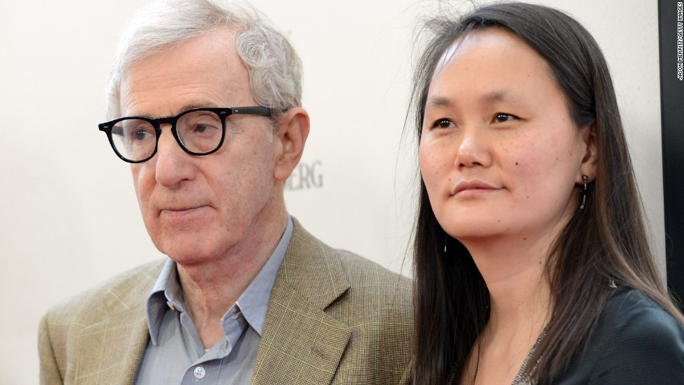 "Allen's breakup with Mia Farrow was precipitated by her discovery of an affair between the director and her then 21-year-old adopted daughter Soon-Yi Previn. Farrow found nude photos of Previn in Allen's apartment. Previn and Allen, seen here in 2012 at the premiere of ""To Rome With Love"" in Los Angeles, have been married since 1997 and are the parents of two adopted daughters."