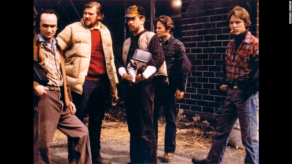 "Hollywood began to explore the Vietnam War in the late '70s. Michael Cimino's ""The Deer Hunter"" examined the effects on steelworkers, from left, John Cazale, Chuck Aspegren, Robert De Niro, John Savage and Christopher Walken. Cimino and Walken also won Oscars for best director and best supporting actor, respectively."