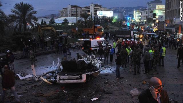 Suicide bomber attacks Beirut minibus