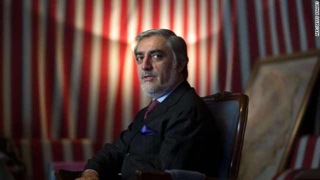 Afghanistan politician and candidate for the upcoming presidential election, Abdullah Abdullah addresses a press conference in Kabul on January 26, 2014.