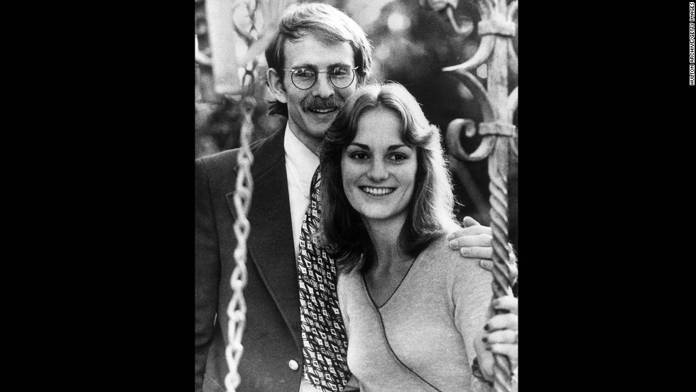 Hearst was abducted at gunpoint from the apartment she shared in Berkeley with her fiance, Steven Weed, pictured with Hearst.  A radical group called the Symbionese Liberation Army, or SLA, took credit.