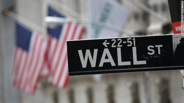 A view of the Wall Street sign outside the New York Stock Exchange.