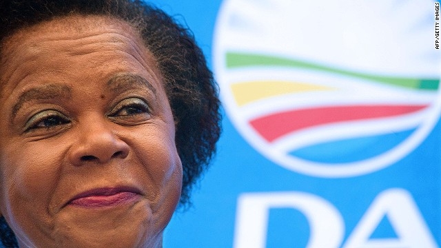 Former anti-apartheid activist Mamphela Ramphele smiles at a press conference on January 28, 2014, at a hotel in Cape Town, where she was anounced as the South African opposition party Democratic Alliance (DA) presidential candidate for the upcoming 2014 South African elections. South Africa's centrist opposition parties joined forces on January 28 to challenge the ruling ANC at upcoming elections, with black consciousness stalwart Mamphela Ramphele tapped as their presidential candidate. AFP PHOTO / RODGER BOSCHRODGER BOSCH/AFP/Getty Images