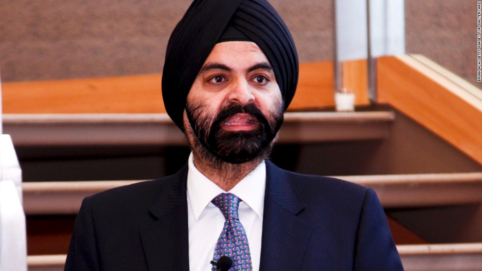 Ajay Banga joined MasterCard in 2009. The former chief executive officer of Citigroup Asia Pacific began his career in India, where he worked for Nestle for 13 years.