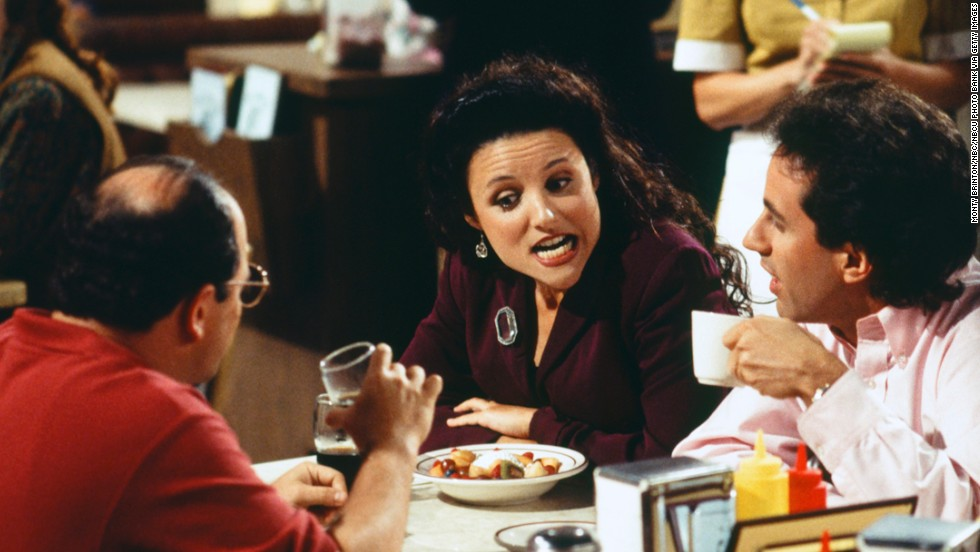 "Julia Louis-Dreyfus got her start on ""Saturday Night Live,"" but it's her role as the sole lead female character on the iconic '90s comedy ""Seinfeld"" that stands out the most. Initially, Louis-Dreyfus' Elaine didn't exist, but it was decided that the show needed a woman's voice. ""We had a very vague idea of Elaine,"" ""Seinfeld"" co-creator Jerry Seinfeld told The New York Times in 1993. ""But once Julia walked in, we knew who Elaine was. We created her together."" Louis-Dreyfus has since been in other hits, including HBO's ""Veep."""