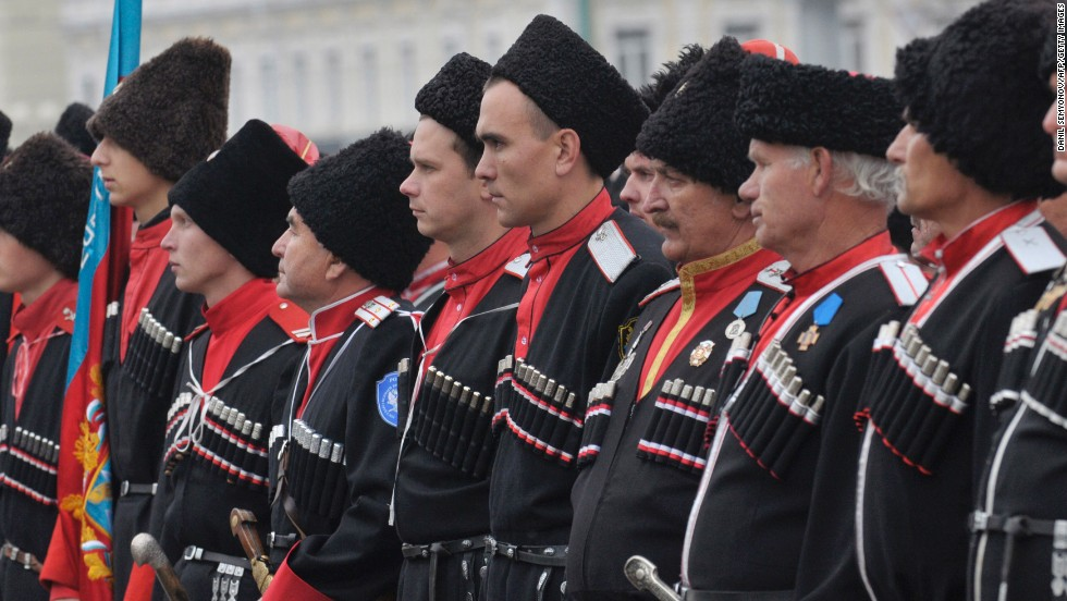 Don't be surprised to see men resembling Tolstoy characters patrolling the Sochi streets. Cossacks are part of the Olympics security force.